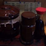 竹乃 - 卓上調味料 壷はソースです