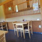 蕎麦処 天和庵 - テーブル席です。