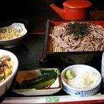 駒沢 そば蔵 - 小親子丼とざるそばのセット