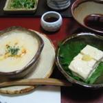 蓮月茶や - 豆富グラタン、ゆば煮