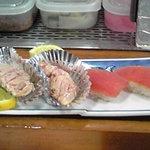 波布鮨 - あぶり焼きとマグロ
