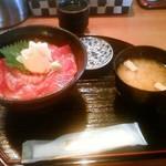 Sushi Dining 旬 - ランチの鮪の漬け丼(780円)です