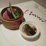 蔭山樓  - 蔭山楼ランチセット(蒸し野菜)