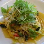 ガーデンレストラン アマルフィイ - 野菜を食べるビアンコタリオリーニ