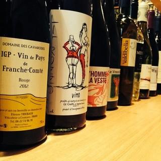 日本酒、自然派ワインを多数ご用意