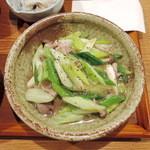 ワードオブマウス - 長ネギ豚肉塩炒め 830円