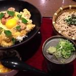 三宝庵 - 親子丼セット(そば・うどん付) 税込951円
