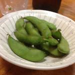 Shiduka - 枝豆は茹でたてでまだ熱いままだったが、冷めてくると、美味しい。
