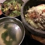 韓豚屋 - 石焼きチーズビビンパ