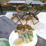 モンスーンカフェ - サーモンとアボカドの生春巻き