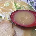 まつの屋 ゆめタウン呉店 - 広島ラーメン(520円)スープ