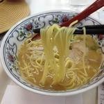 まつの屋 ゆめタウン呉店 - 広島ラーメン(520円)麺リフト