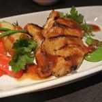 30024184 - 若鶏のバーベキューグリドル焼き 季節の野菜添え