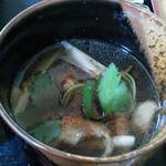 匠 - 鴨肉入りのつけ汁(温ったかいです)