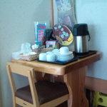 そば処冨久屋 - 無料コーヒーコーナー