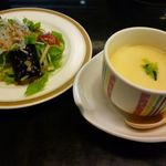 30041258 - サラダと茶碗蒸し