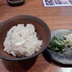 銀平 匠 - 鯛飯と御新香