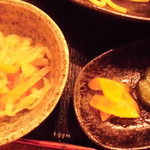 酒飯場 さかもと - 切干大根と漬物