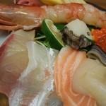 泳ぎ活魚・炭火焼き 駅前 - 特上海鮮丼