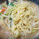 30051919 - 野菜味噌ラーメン 麺アップ