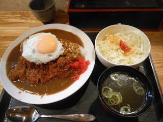 味工房 きくや - カツカレー(サラダ・スープ・2014)
