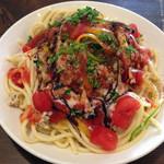 ソプラッチリア - 冷製ガパオ極太スパゲッティ 800円