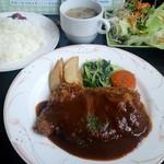 洋食家 アルハンブラ - ビーフヒレカツランチ(2014,6)