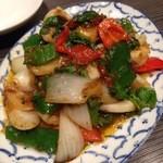 スクンビットソイ39 - イカの香草炒め