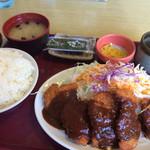 どんじゅう - チキンカツ定食
