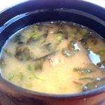 沼津魚がし鮨 - アオサ入りの鯛アラ様でこれまた少しお得感♪