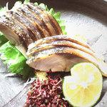 まんまや 和坐 - 脂ののった炙り〆鯖です。