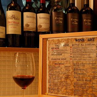 10種の本格ワインが333円!お料理との相性も抜群◎