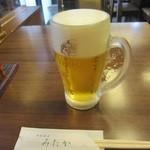 手打蕎麦 みたか - 生ビール「ヱビス」