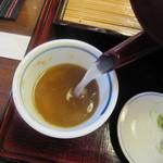 手打蕎麦 みたか - 蕎麦湯は自然体