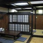 五平田・蔵 - 多治見市「五平田 蔵」の2階席  2014.8.23撮影
