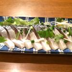 旬菜厨房 恵比須屋 - トロしめ鯖刺身