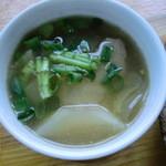 喫茶いのん - きゃべつと塩豚のスープ