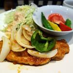 洋食屋さん - ポークジンジャー&夏野菜のオリーブオイル胡麻和え
