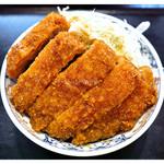 たけだ - 「ジャンボソースカツ丼」…みっちり詰まってます!(2012.10)