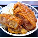 たけだ - 「ジャンボソースカツ丼」…極厚の肉!(2012.10)