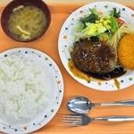 東洋大学 学生食堂 - Bランチ(ハンバーグ&牛肉コロッケ)¥470