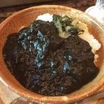 ステーキハウス 桂 - オリジナルブラックカレー 竹炭で黒いそう( ´ ▽ ` )ノ