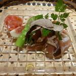 口福よこ山 - 希少野菜をサマートリュフとオリーブオイルにて (2014年7月訪問)