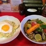 30096864 - 本日のオススメの夏野菜たっぷりベジタブル、エピローグ、辛さ1のちょい辛
