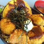 灯台茶屋 - 岩ガキと大アサリのお見合い丼