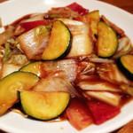 中華 うずまき - 夏野菜のあんかけ焼きそば