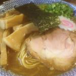 らーめん侘助 - 醤油ラーメン大盛メンマ増し(750+100+100円)
