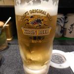活 大江戸 - まずは生ビール 500円
