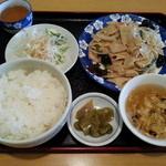 30100947 - 乾豆腐炒め定食(700円)です。
