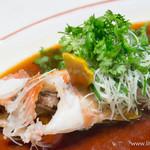 筑紫樓 - 清蒸海上鮮 アカハタの清蒸魚【2014年8月】